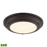 Sonoma Collection LED flushmount in Oil Rubbed Bronze