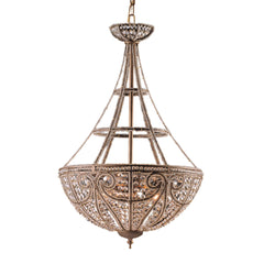 4 Light Pendant In Dark Bronze