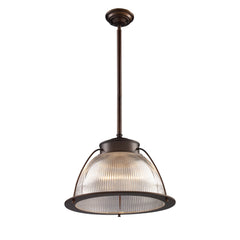 Halophane 1-Light Pendant In Aged Bronze