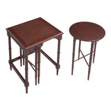 Mindoro Nesting Tables in Antique Cherry