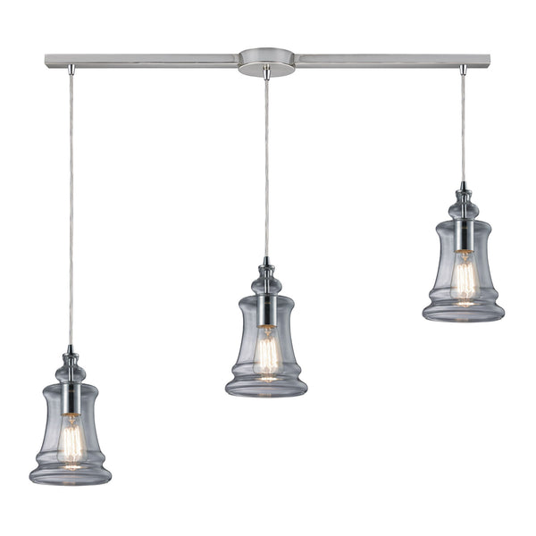 Menlow Park 3 Light Pendant In Polished Chrome
