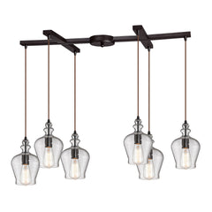 Menlow Park Collection 6 light chandelier in Oil Rubbed Bronze