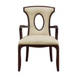Blakemore Arm Chair in Dark Mahogany, Ecru