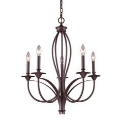 Medford 5-Light Chandelier In Oiled Bronze