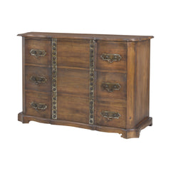 Heritage Chest In New Signature Stain With Antiqued Tin and Tack