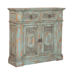 "Green Vintage Hall Chest - 40""x42"""