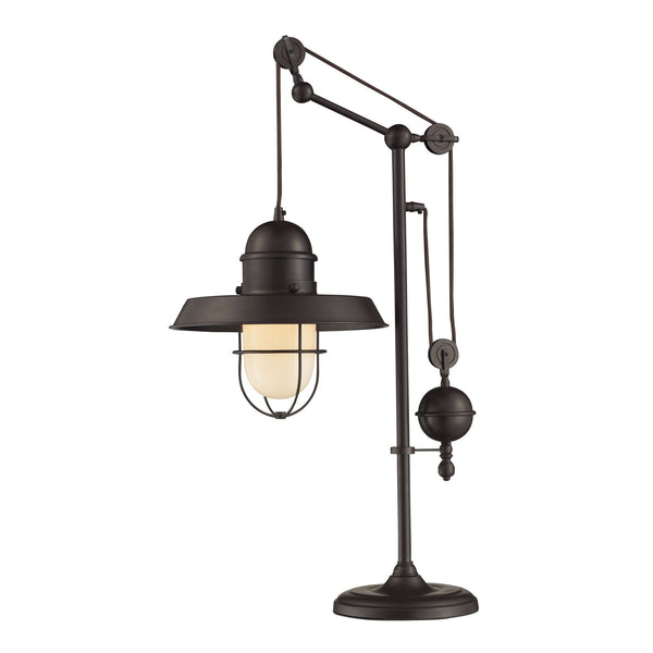 "17"" Traditional Farmhouse Table Lamp in Oiled Bronze"