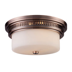Chadwick 2-Light Flush Mount In Antique Copper