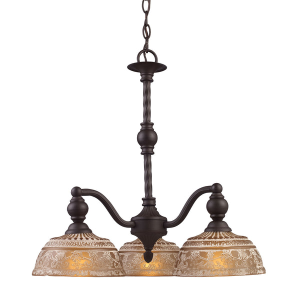 Norwich 3-Light Chandelier In Oiled Bronze
