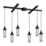 Fulton 6 Light Pendant In Oil Rubbed Bronze