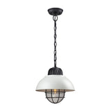 Darby 1 Light Pendant In Oil Rubbed Bronze/white