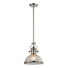 Chadwick Collection 1 light pendant in Polished Nickel