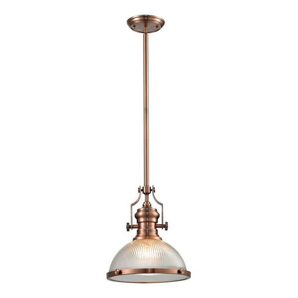 Chadwick Collection 1 light pendant in Antique Copper