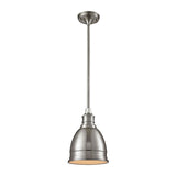Carolton 1 Light Pendant In Brushed Nickel