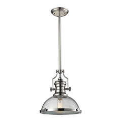 Chadwick 1 Light Pendant In Polished Nickel