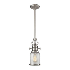 Chadwick 1 Light Pendant In Satin Nickel