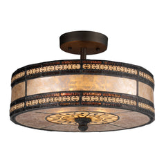 Mica Filigree 2-Light Semi Flush In Tiffany Bronze