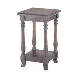 Four Post Side Table In Grey Stain No.4
