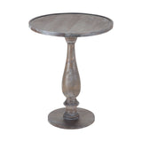 Hamptons Side Table In Waterfront Grey Stain With White Wash
