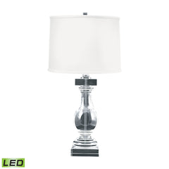 Clear Crystal Ballustrade LED Table Lamp