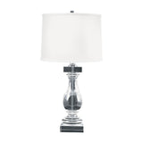 Clear Crystal Ballustrade Table Lamp