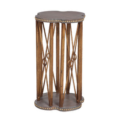 "Bedford Accent Table in Grey and Gold Finish - 26""x15"""
