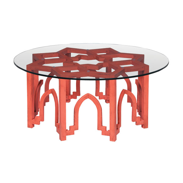 "Red Marrakesh Coffee Table - 18""x40"""