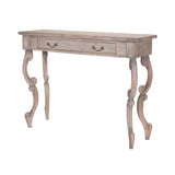 "Weathered Tuscan Carved Scroll Entry Table - 36""x48"""