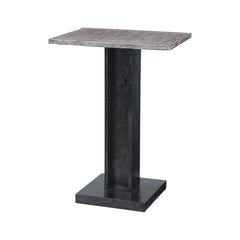 Bistro Accent Table With Natural Wood Top