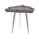 Jambi Accent Table In Aged Grey Wash