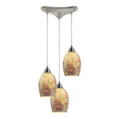 Avalon 3 Light Pendant In Satin Nickel