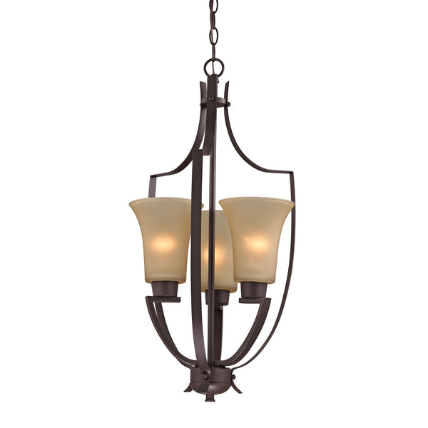 Foyer Collection 3 Light Pendant In Oil Rubbed Bronze