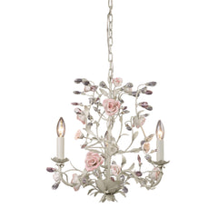 3 Light Chandelier In Cream