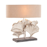Maidenhair 1 Light Table Lamp In Textured Nickel