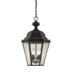 Cotswold 4 Light Exterior Hanging Lamp In Oil Rubbed Bronze