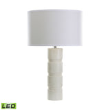 "Diamond Lighting 26"" Transitional Round Stacked Marble LED Table Lamp"