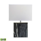 "Diamond Lighting 20"" Transitional Grey Marble Square LED Table Lamp"