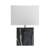 "20"" Transitional Grey Marble Square Table Lamp"