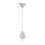 3.5'' Transitional White Marble Hexagonal Hanging Lamp in White Marble