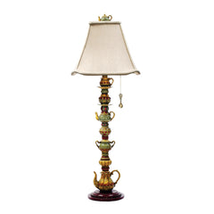 "35"" Traditional Tea Service Candlestick Lamp in Burwell Finish"