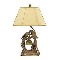 "25"" Traditional Twin Parrots Table Lamp in Atlanta Bronze"