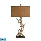 "Diamond Lighting 35"" Transitional Driftwood LED Table Lamp in Silver Leaf"