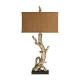 "35"" Transitional Driftwood Table Lamp in Silver Leaf"