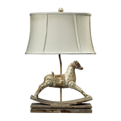 "24"" Traditional Carnavale Rocking Horse Table Lamp in Clancey Court Finish"