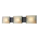 Pannelli 3 Light Contemporary Vanity Lighting - Honey Alabaster Glass / Orb