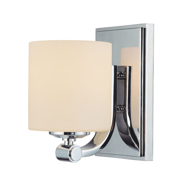 Slide 1 Light Contemporary Vanity Lighting - White Opal Glass / Chrome Finish