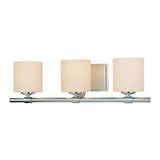Slide 3 Light Contemporary Vanity Lighting - White Opal Glass / Chrome Finish