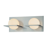 Orbit Double Lamp Vanity With White Opal Round Glass & Chrome Finish