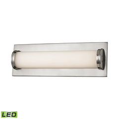 Barrie 1 Light LED Vanity In Matte Satin Nickel