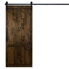 "Country Vintage Sliding Barn Door, Dark Chocolate, 36""Wx84""H, Hardware Included"